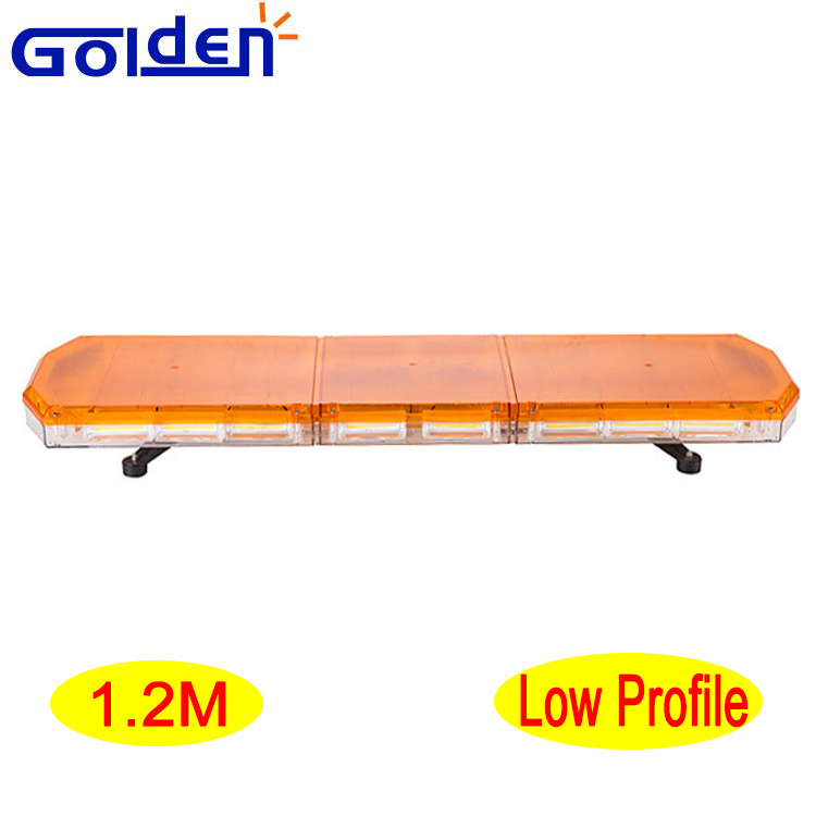 Low profile linear LED amber flashing warning light bar with remote control box