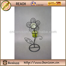 2013 New Product High Quality Decoration European Metal Candle holder with butterfly Glow in the Dark
