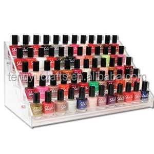 custom wholesale cheap acrylic desktop 5-tier clear display holder rack stand nail polish organizer