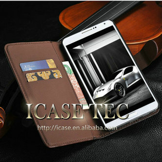 Fashion retro leather wallet case for samsung galaxy note 3 , for galaxy note iii leather case , cell phonecase