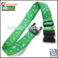 Polyester Luggage Straps With Lock Silk
