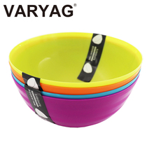 Bpa free custom plastic houseware kitchen PP salad cutter tableware colourful strong thicken soup fruit bowl