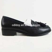 China cheap leather ladies shoes 2017 with stones without lace