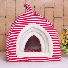 Spot wholesale striped folding collapsible yurt pet nest washable dog kennel cat litter