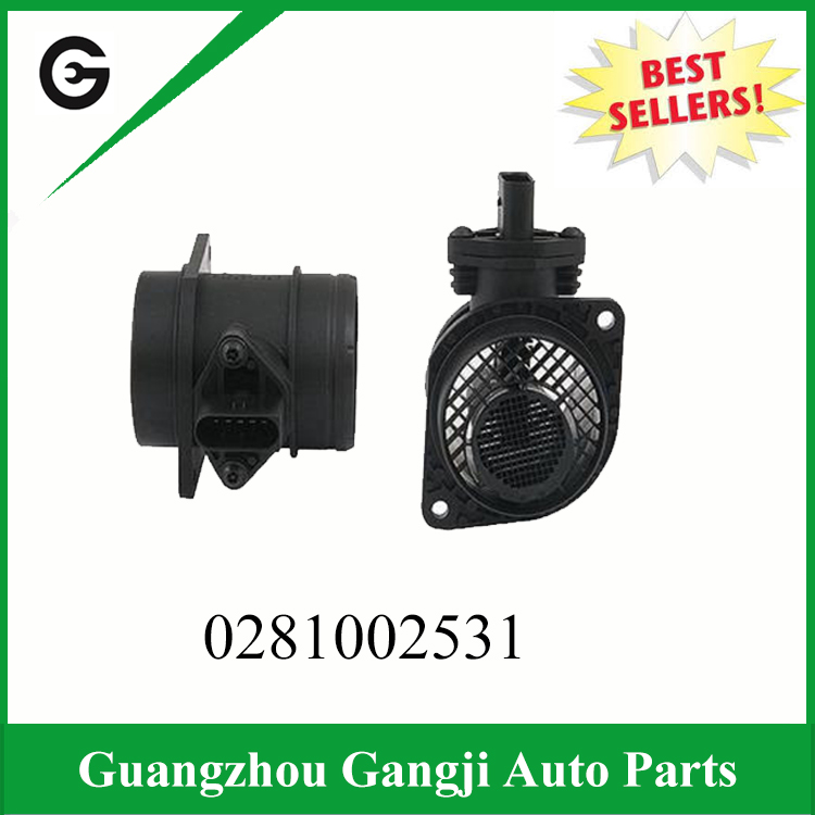 OEM 0281002531 Best Price Mass Car Auto Air Flow Meter MAF Sensor Sale For Volkswagen Jetta Beetle Golf Audi A4