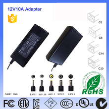 12V 10A 120W Universal 100Vac to 240Vac Input Power Supply Adapter