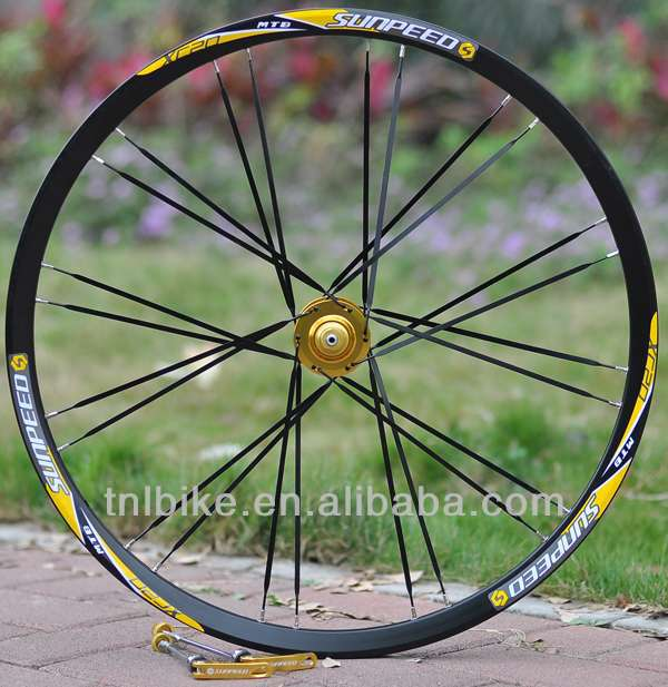 2015 cheap aluminum alloy mountain bike mtb bicycle wheel