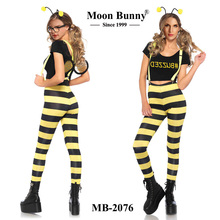 Yellow Bee Sex Animal Women Costume Set BUZZED BEE COSTUME