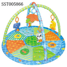 Hot and New Musical play mat, good baby gym mat with monkey and other animal pattern