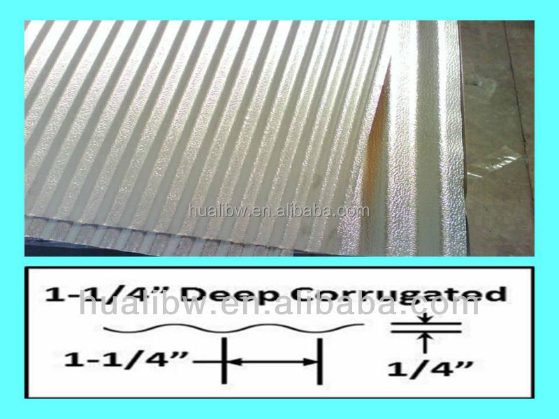 corrugated aluminum siding