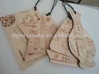 different kinds of wooden postcard