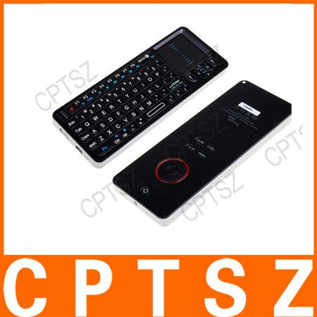 Rii MINI i6 2nd 2.4GHz Wireless Keyboard + Universal Remote Control 2 in 1 Black