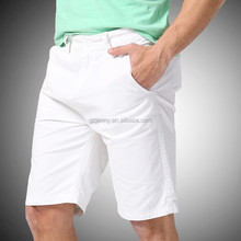 New Men Shorts Summer Fashion Men Casual Beach Cotton Shorts White 7 Color
