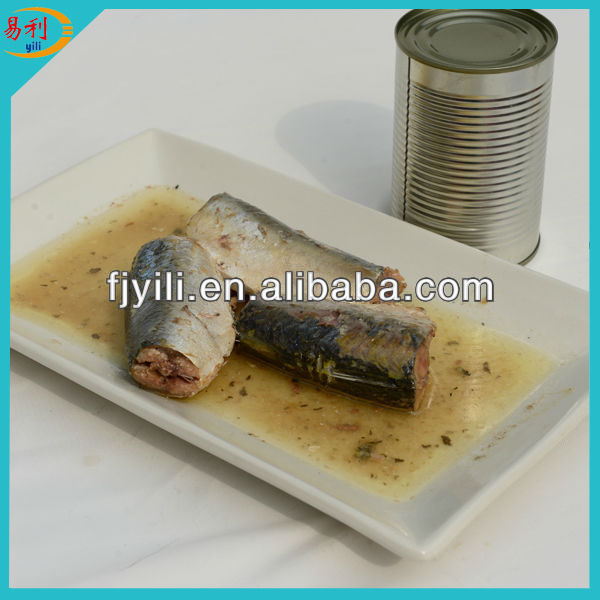 Hot selling canned mackerel in sunflower oil from canned factory