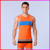 Wholesale polyester/spandex men seamless tight tank tops , men sport vest