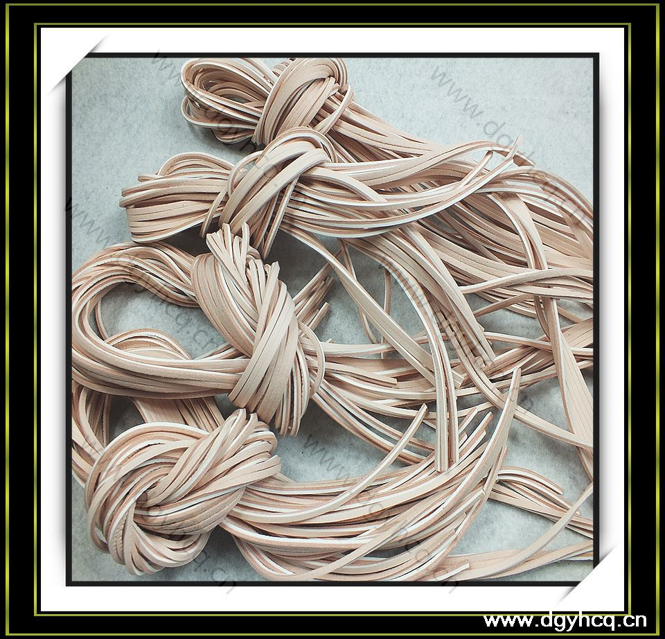 high quality cow leather shoe laces square leather