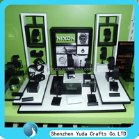 Large wooden display counter unit for watch jewellery, watch exhibition stand