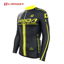 Men back pockets quick dry SHINE long sleeves cycling jersey