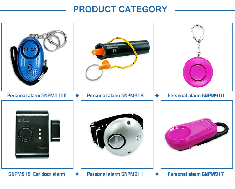 Wireless portable self defense safety personal portable emergency alarms