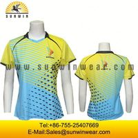 Best quality tennis sports wear mens and womens badminton uniforms dry fit wholesale cheap volleyball polo shirt