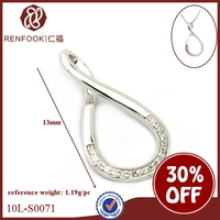 Renfook wholesales 925 sterling silver infinity charms with cz for diy