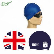 ear protection flag design your own custom adult funny printing silicone swim cap