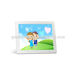 Auto start and playback 12 inches black digital photo frame