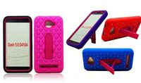 bling crystal star cover hybrid combo kickstand case for alcatel one touch POP 7 P310