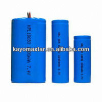 3.7V OEM Li-ion battery pack 18650 2200mAh