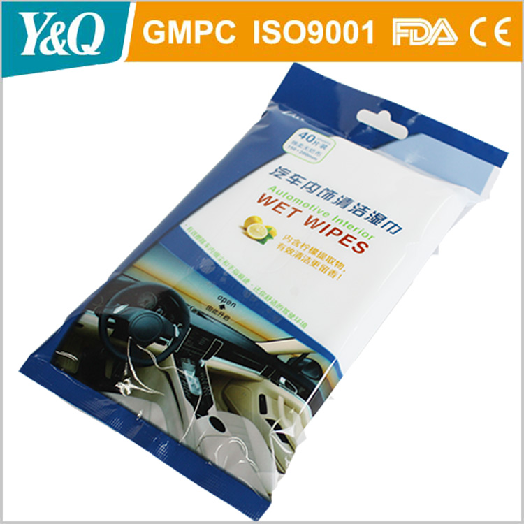 Competitive Price High Quality Auto Car Cleaning Wet Wipe Manufacturer From China