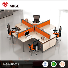 Modern cubicle office partition/ modular workstation portable walls with mobile filing cabinet