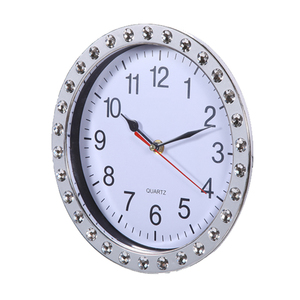 Advertising Quartz 9 inch Living Room Wall Clock Diamond