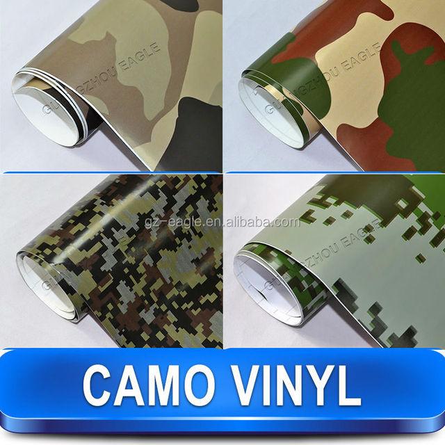 White Digital Camouflage Car Wrap Vinyl Film , Bubble Free Car