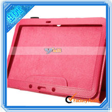 Litchi Grain Two-Folded PU leather case for 7.9 inch tablet pc Iconia A1 Rose Red
