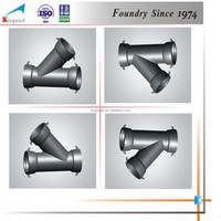 Industry best selling custom cast iron 45 degree pipe fitting lateral tee