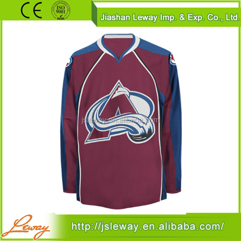 Adults 6xl ice hockey jerseys nhl Team Colorado Avalanche oem