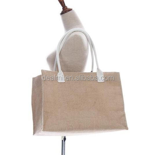 Wholesale Monogrammed personalized Burlap Tote