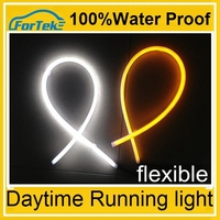 led white and yellow turning led light driving flexible daylight drl