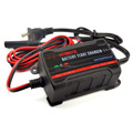 12V 750mA Fully Automatic Battery Charger / Maintainer for Cars, Motorcycles, ATVs, RVs, Powersports, Boat and More