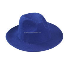 Ladies fashion dress girls wide brim fedora hat