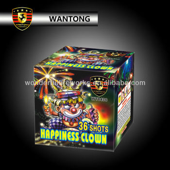 36s Happiness Clown cake Fireworks