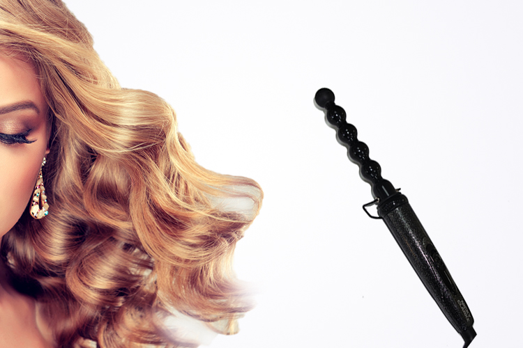 Conical curling iron,balance electric waver pear flower cone electric hair curler roller curling wand