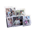 Custom size rectangle fashion wedding acrylic photo frame