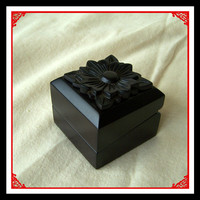 Strong wholesale small wood carved jewelry boxes