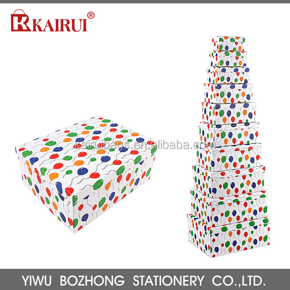 100% Factory Diretcy Supply Custom Decoration Lids Cardboard Paper Gift Boxes with Logo Printed