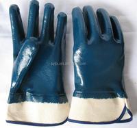 Free sample Heavy duty work blue nitrile safety gloves
