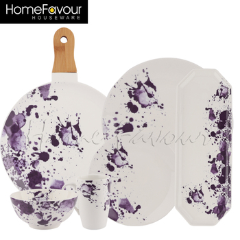 splatter ceramic tableware
