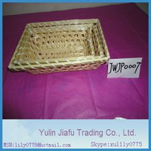 Rectangle S/3 hand made flat bamboo basket