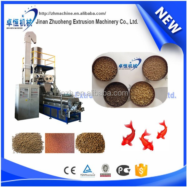 roasted floating fish feed making machine