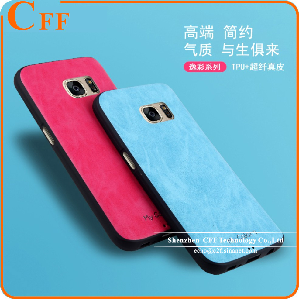 Awesome Funny Rubber Soft Leather TPU Silicone Phone Back Case for Samsung Galaxy S7 EDGE Cover